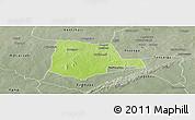 Physical Panoramic Map of Partiaga, semi-desaturated