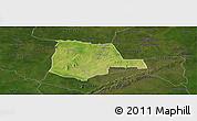 Satellite Panoramic Map of Partiaga, darken