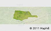 Satellite Panoramic Map of Partiaga, lighten