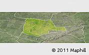 Satellite Panoramic Map of Partiaga, semi-desaturated