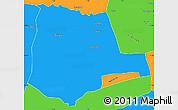 Political Simple Map of Partiaga