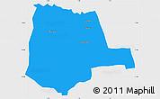 Political Simple Map of Partiaga, single color outside