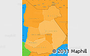 Political Shades Simple Map of Tapoa, political outside