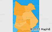 Political Shades Simple Map of Tapoa