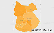 Political Shades Simple Map of Tapoa, single color outside