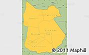 Savanna Style Simple Map of Tapoa