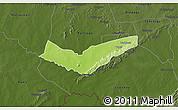 Physical 3D Map of Tambaga, darken