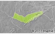Physical 3D Map of Tambaga, desaturated