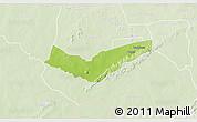 Physical 3D Map of Tambaga, lighten
