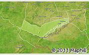 Physical 3D Map of Tambaga, satellite outside
