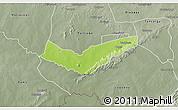 Physical 3D Map of Tambaga, semi-desaturated