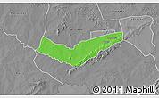 Political 3D Map of Tambaga, desaturated