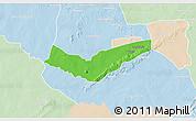Political 3D Map of Tambaga, lighten