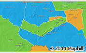 Political 3D Map of Tambaga