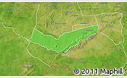Political 3D Map of Tambaga, satellite outside