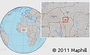 Gray Location Map of Tambaga