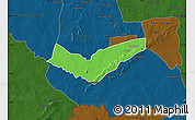 Political Map of Tambaga, darken
