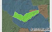 Political Map of Tambaga, darken, semi-desaturated
