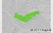 Political Map of Tambaga, lighten, desaturated