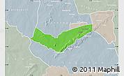 Political Map of Tambaga, lighten, semi-desaturated