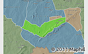 Political Map of Tambaga, semi-desaturated