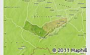Satellite Map of Tambaga, physical outside