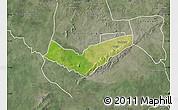 Satellite Map of Tambaga, semi-desaturated