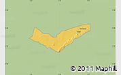 Savanna Style Map of Tambaga, single color outside