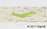 Physical Panoramic Map of Tambaga, shaded relief outside