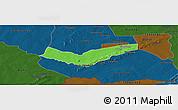 Political Panoramic Map of Tambaga, darken