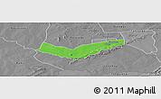 Political Panoramic Map of Tambaga, desaturated