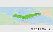 Political Panoramic Map of Tambaga, lighten