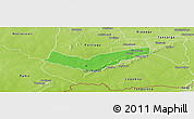 Political Panoramic Map of Tambaga, physical outside