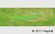Political Panoramic Map of Tambaga, satellite outside