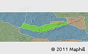 Political Panoramic Map of Tambaga, semi-desaturated