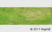Satellite Panoramic Map of Tambaga