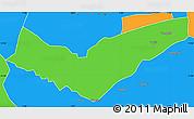 Political Simple Map of Tambaga
