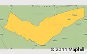 Savanna Style Simple Map of Tambaga