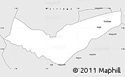 Silver Style Simple Map of Tambaga