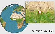 Satellite Location Map of Tansarga, highlighted parent region