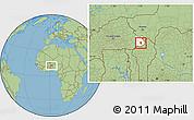 Savanna Style Location Map of Tansarga, highlighted parent region