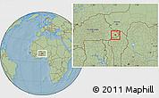 Savanna Style Location Map of Tansarga, hill shading