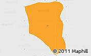 Political Simple Map of Tansarga, single color outside