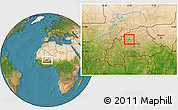 Satellite Location Map of Bassi
