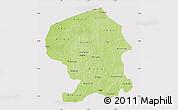 Physical Map of Yatenga, cropped outside