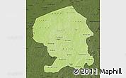 Physical Map of Yatenga, darken