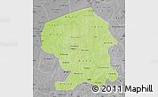 Physical Map of Yatenga, desaturated