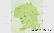 Physical Map of Yatenga, lighten