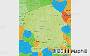 Physical Map of Yatenga, political outside