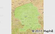Physical Map of Yatenga, satellite outside